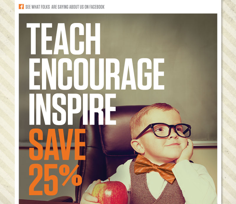 Save 25% on Everything for Your Classroom!