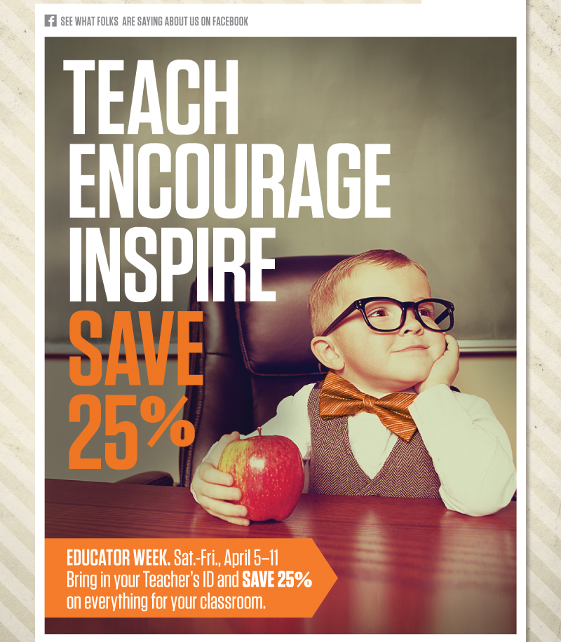 Save 25% On Everything for Your Classroom