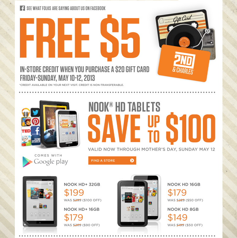 Free $5 In-Store Credit